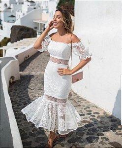 175fdcb8a Vestido Beatriz Longo em Tule Bordado e Renda - Essencial Clothes
