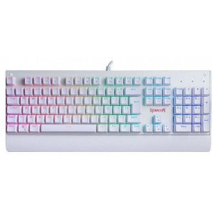 Teclado Mecânico Gamer Redragon Kala K557W, RGB, Switch Outemu MK2 Blue, ABNT2, Branco - K557W-RGB (BLUE)