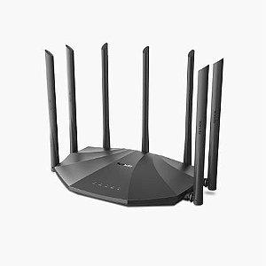 Roteador Gigabit Tenda AC23 Dual-Band AC 2100 Mbps MU-MIMO 4X4 Beamforming 7 Antenas 6dBi - AC23 - Streaming