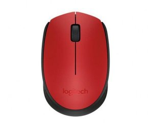 Mouse Logitech Sem Fio M170 Wireless Vermelho