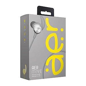 Fone de Ouvido Auricular AER Aermove Bluetooth AER01G Prata