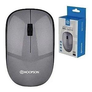 Mouse USB Sem Fio Nano 1000 DPI Hoopson MS-040W Grafite