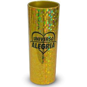 Copo Holográfico Dourado