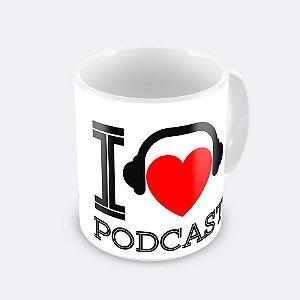 Caneca I Love Podcast Por Falar em Corrida