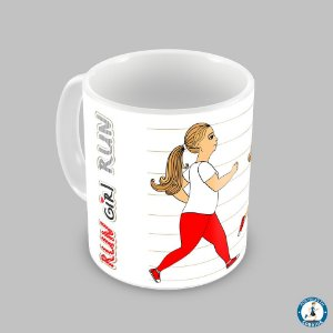 Caneca Run Girl Run