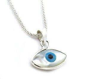 Gargantilha de Prata 925 Olho Grego Pequeno