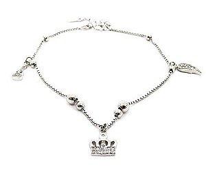 Pulseira de Prata 925 Coroa Delicada