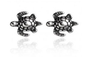 Brinco de Prata 925 Tartaruga 7mm