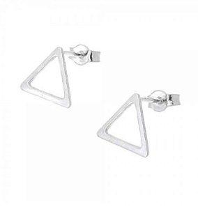 Brinco de Prata 925 Triângulo Vazado