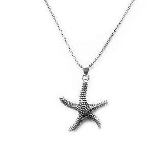 Pingente de Prata Estrela do Mar Pequeno