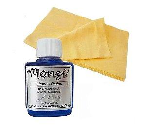 Kit Limpa Prata - Liquido Monzi e Flanela Mágica