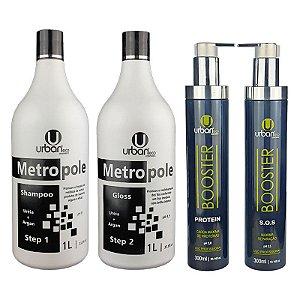 Escova Progressiva Metropole Ureia + Booster Reparação Máxima - Urban Eco