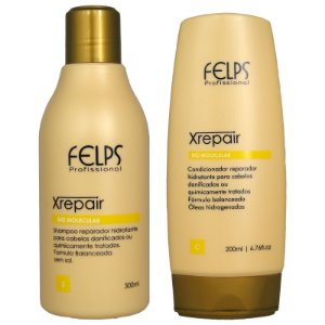 Kit Duo Xrepair Bio Molecular Shampoo e Condicionador Home Care - Felps Profissional
