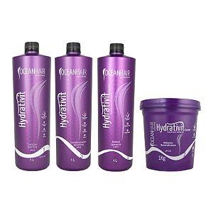 Kit Hidratação e Cauterização Hydrativit - Máscara 1kg - Ocean Hair