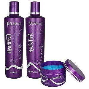 Kit Hidratação Nutritivo Hydrativit Homecare - Ocean Hair