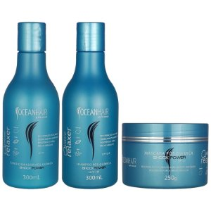 Kit Pós Quimica Wave Relaxer Shock Power - Ocean Hair
