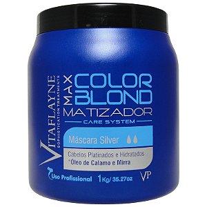 Máscara Matizadora Silver Max Color Blond 1 kg - Vitaflayne