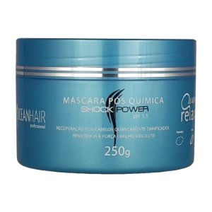 Máscara Pós Quimica Wave Relaxer Shock Power 250g  - Ocean Hair