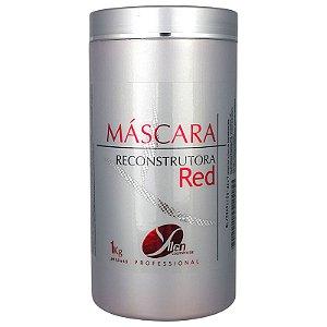 Máscara Reconstrutora Matizadora Tons Vermelhos Intensificador RED 1 Kg - Yllen Cosméticos