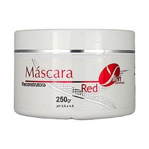 Máscara Reconstrutora Matizadora Tons Vermelhos Intensificador RED 250g - Yllen Cosméticos