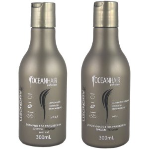 Shampoo e Condicionador Pós Progressiva Lisonday Shock Power 2x300ml - Ocean Hair