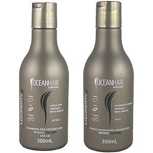 Shampoo e Condicionador Pós Progressiva Lisonday Shock Power 2x300ml - Ocean Hair