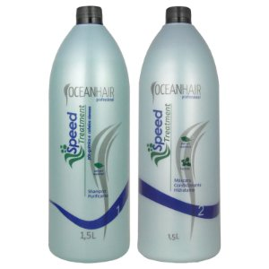 Shampoo e Máscara Condicionante Anti Caspa Speed Treatment 1500ml - Ocean Hair