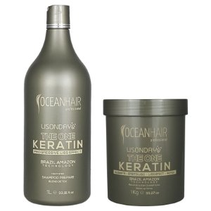 The One Keratin Lisonday Sistema de Reconstrução Botox + Shampoo Lisonday - Ocean Hair