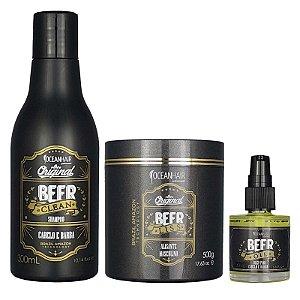 Kit Tratamento Profissional Shampoo Alisante e Óleo Beer - Ocean Hair