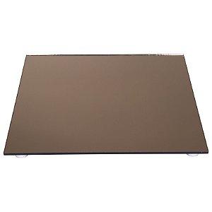 Travessa Quadrada Espelhada Bronze 30x30 cm - VEG
