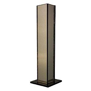 Kit  5 Vasos Solitário Espelhado Bronze Decoração Festa Casamento 20 x 3,5 x 3,5 cm - VEG