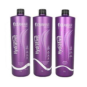 Kit Hidratação Nutritivo + Leave-in Hydrativit Homecare - 1 Litro - Ocean Hair