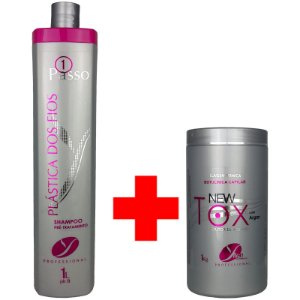Kit Shampoo Pré Tratamento e Botox New Tox Redutor 1 Litro / 1kg - Yllen Cosméticos