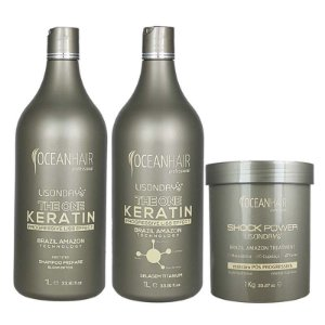 Kit Progressiva The One Keratin Lisonday e Máscara Pós Progressiva Lisonday The Onde Keratin - Ocean Hair