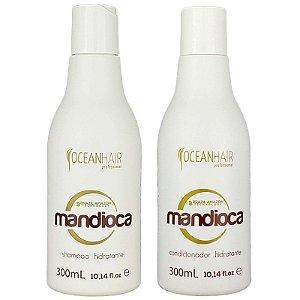 Shampoo e Condicionador Hidratante Mandioca 2x300ml Brazil Amazon Ocean Hair