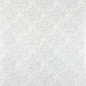 Papel de Parede Auto Adesivo PVC Flores Gelo  45cmX5m - Ref. 631752C