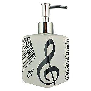 Porta Sabonete Líquido Álcool Gel Nota Musical Ref 361-3