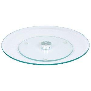 Prato Giratório em Vidro Transparente Temperado - 60cm - Wincy