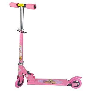 Patinete Infantil Brinquedo 02 Rodas em Gel - Rosa