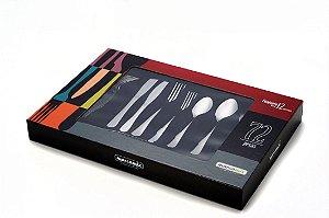 Faqueiro Aço Inox Elite 72 peças - Gourmet Mix