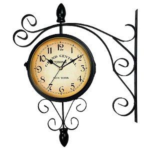 be7a43d3f0e Relógio de Parede Decorativo Estilo Retrô Vintage Estação de Trem Antiga  Grand Central New York