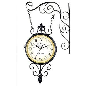 Relógio para Pendurar Estilo Estação Ferroviária Antiga Relógio Retrô Grand Central New York