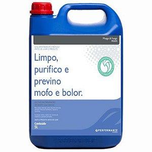 Limpa Purifica e Previne Mofo & Bolor Attack  Superfícies com Limo Urina e Fezes - 5 lts Performance