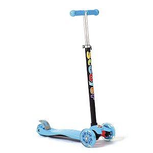 Patinete SkateNet Infantil Três Rodas Guidão com Regulagem de Altura Freio Traseiro UniToys