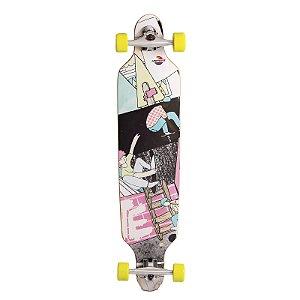 Skate LongBoard Montado Estampado Com Lixa Antiderrapante Rodas em PU Truck Alumínio - Unitoys