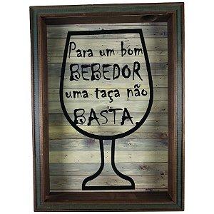 Quadro Porta Rolhas Vinho Decoração Para Bom Bebedor - ArtFrame
