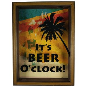 Quadro Porta Tampinhas Cerveja Rústico Decoração It's Beer - ArtFrame