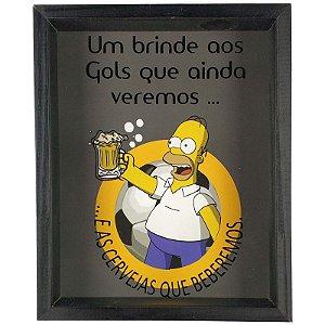 Quadro Porta Tampinhas Copa do Mundo Homer Simpson - ArtFrame