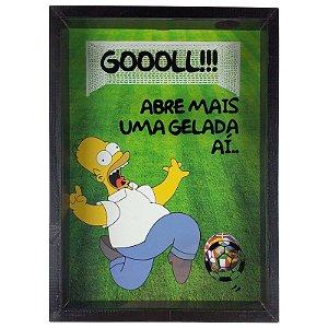 Quadro Porta Tampinhas Homer Simpson Copa do Mundo - ArtFrame