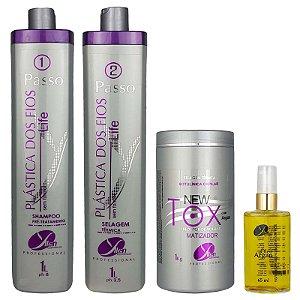 Kit Selagem Térmica dos Fios Life Botox New Tox Redutor Volume Matizador e Óleo de Argan Yllen